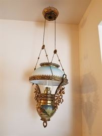 Miller hanging oil kerosene lamp