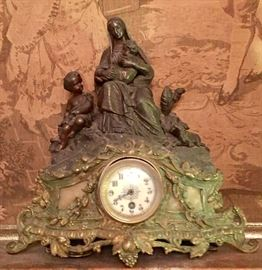 19th c. French figural clock
