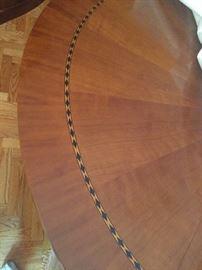 Henredon Walnut oval table