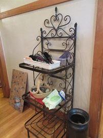 Wrought iron rack