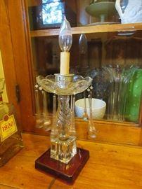 Vintage glass based lamp
