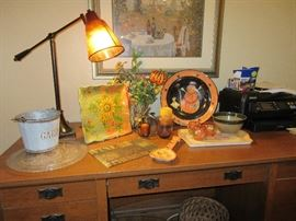 Fall decor and mission style desk