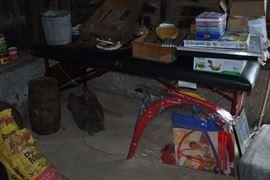 more farm items: horseshoes, crate, barrel, kids toys