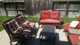 patio furniture with pads 35 each setee 60
