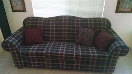 plaid sofa 100
