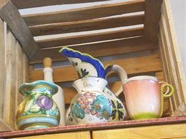 Some beautiful pots, pitchers, plates, etc.