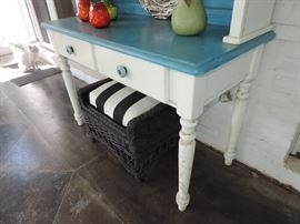Great Size !!! Painted White Cabinet