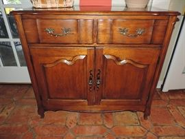 Inset Marble Top Server ... GREAT SIZE !