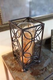 "Glass Candle Holder, 10"" Tall, Square"
