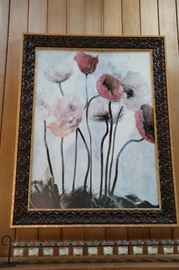 "Framed Print, Flowers, 37""w x 47""h"