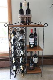 "Wine Rack, 12 bottles + Shelves, 24""w x 12""W X 32""h; WINE NOT INCLUDED"