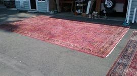 Damaged Persian rug