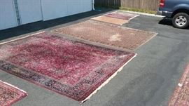 Damaged Persian rug
