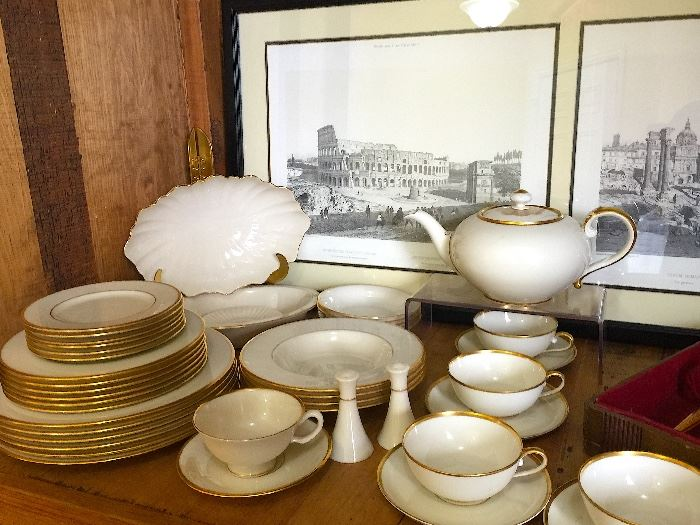 • Lenox 'Mansfield' China to a set of 1847 Rogers Brothers 'Golden Bouquet' Flatwear, Rosenthal Tea Set,  a Lladro Clown Figurine and Royal Doulton 'Toby' Mugs and other great, fun collectibles..