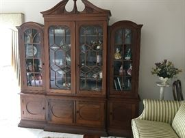 Handcrafted china cabinet, one-of-a-kind
