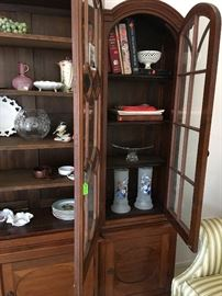 Handcrafted china cabinet, glass doors