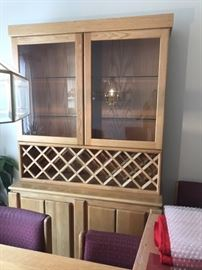 Oak China Cabinet with Glass Window. Great Condition!