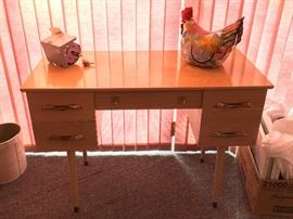 5 drawer solid wood desk--$150.