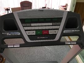 Control Panel of  $100 treadmill.