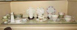 Collection of antique/vintage cups and saucers