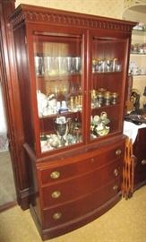 Vintage mahogany china cupboard