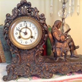 Voltaire Waterbury Clock Co. ~ Pot Metal copper look.