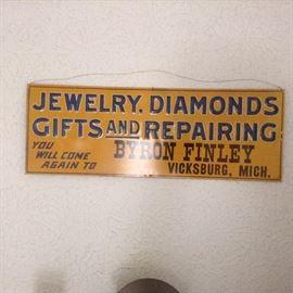 Jewelry Repair Advertising Sign