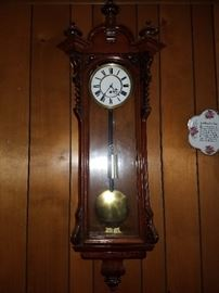 Vintage wall and mantle clocks and clock parts