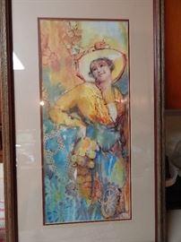 Artist: Helen Adams, Lady, Watercolor