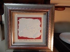 Another Happy Angel, Embossed Handmade Paper