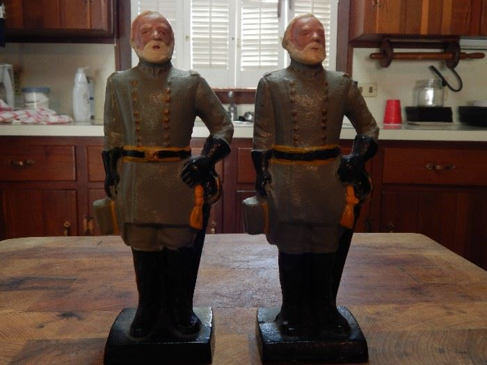 Early 20th Century Confederate Soldier, Cast Metal-Hand painted