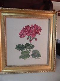 Artist: Edna Mayo, Floral Scene, Water Color