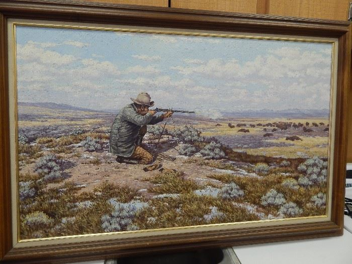 """Artist: George Dabich, """"Hid Hunter"""", Oil on Stretched Canvas"""
