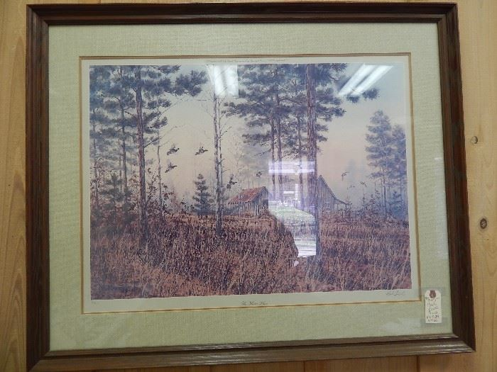 """Artist: Herb Booth, """"The Home Place"""", Lithograph"""