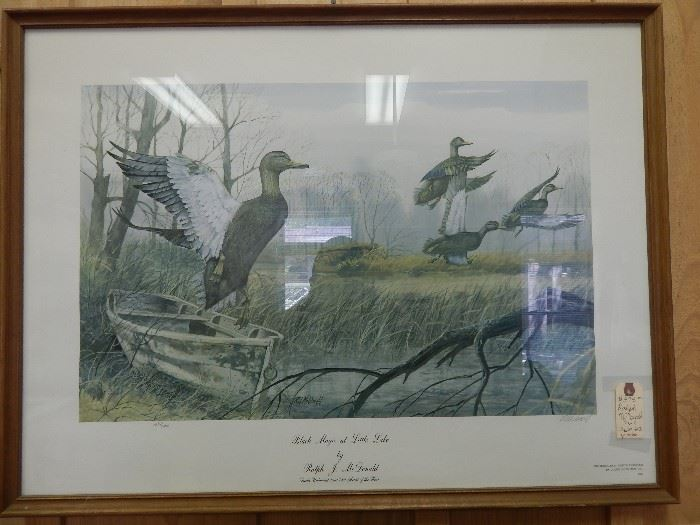 "Artist: Ralph McDonald, ""Black Magicat Little Lake"",  Numbered Edition 1864/2400, Lithograph"