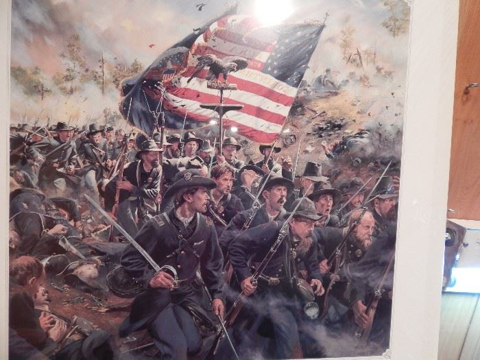 """Artist: Don Trolani, """"Eagles of the Eighth"""" Authentic Work, Double Signed, Lithograph"""