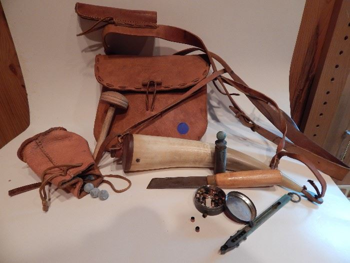 Bag for Black Powder Muzzle Loader, Contains all Material Necessary to go Shooting with Black Powder Gun