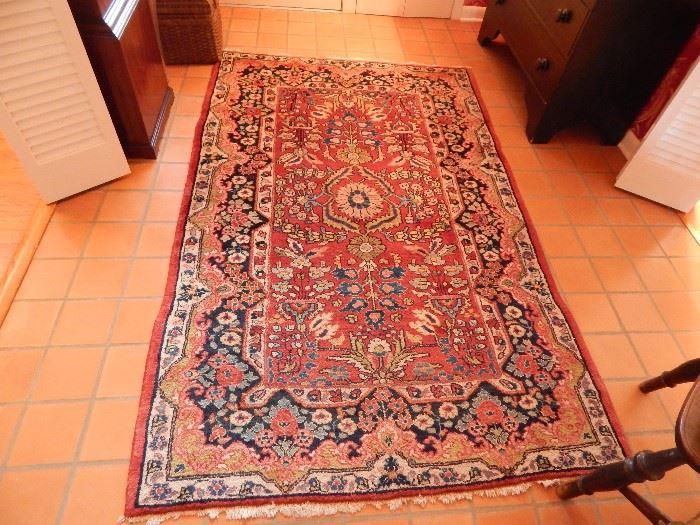 Oriental Rug, Persia, Kerman Design Handmade Rug With Black Border