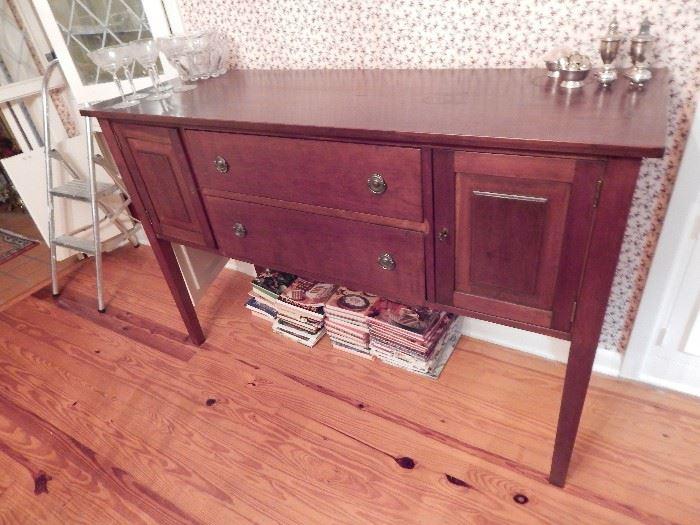 Buffet by J Homer Walters, Laurel, MS, Wood Hand Crafted, Dark Cherry/Mahogany Finish