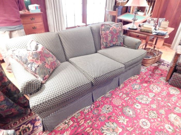 Lane Couch, Rolled Arm, Green Diamond Design Upholstery