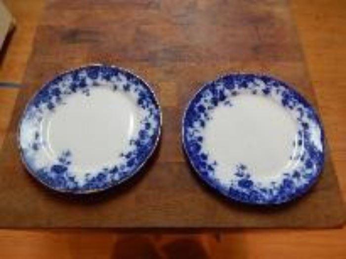 Burgess & Leigh Burslem Flow Blue Plates