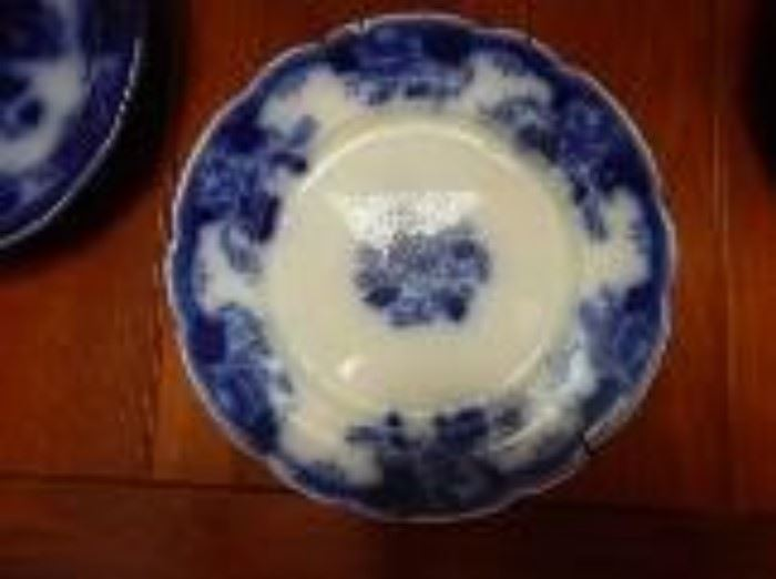 Maddock, John & Sons Flow Blue Plate