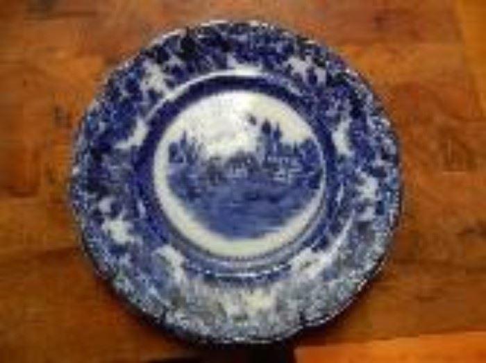 TOGO Pattern by F. Winkle--Flow Blue Plate