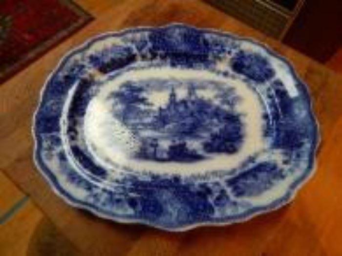 Burgess & Leigh Flow Blue Platter