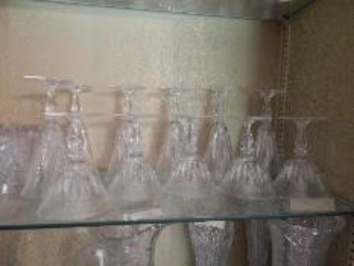 Thumbprint Crystal Stemware