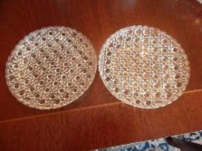 Cut Glass Trays