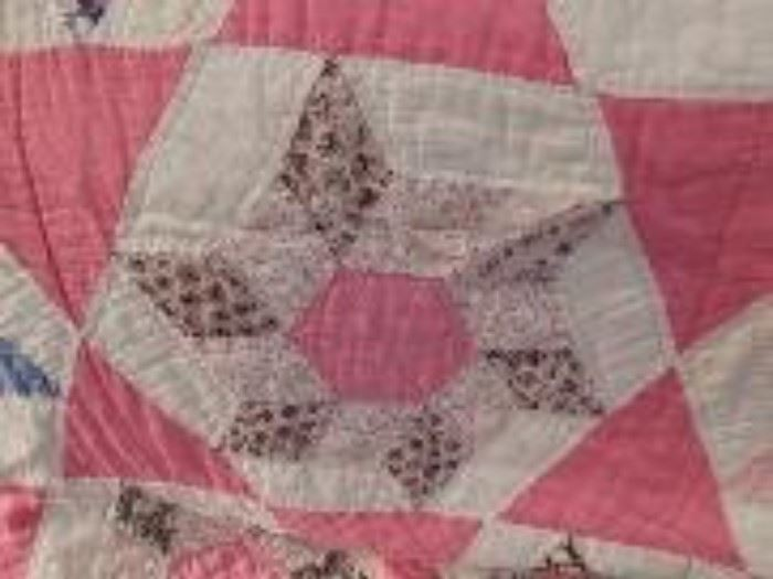 1930's Block in Star Pattern Quilt