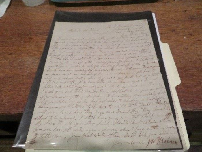 Memphis, TN Document-This is a confederate soldier letter written to his cousin from prison in Memphis, Tennessee.  -