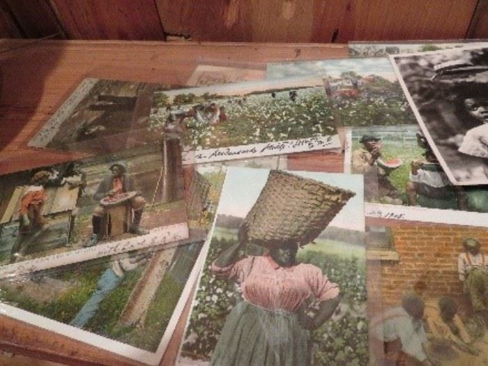 Seventeen early 1900's Africa American Postcards