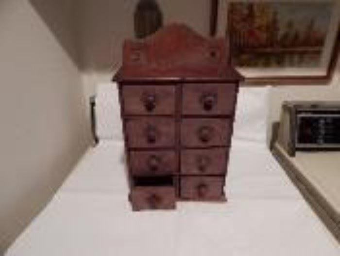 Primitive Wooden Spice Box